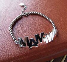 """Delizioso bracciale da donna con scritta """"MAMMA"""" - Acciaio 316L"""