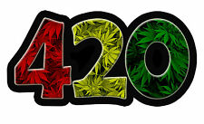 420 Rasta Marijuana vinyl Sticker - Weed Leaf Leaves dank bud bumper car truck