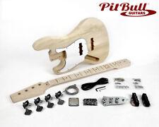 Pit Bull Guitars JB-4ML Left Handed Electric Bass Guitar Kit (Maple Fretboard)