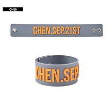 2017 Kpop EXO CHEN Birthday Silicone Bracelet Bangles Wristband Rubber Band