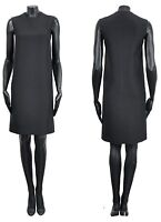 CELINE by Phoebe Philo 1500$ Classic Black Silk Wool Sleeveless Shift Dress