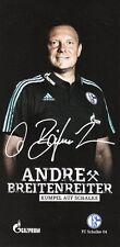 Andre Breitenreiter (Trainer) + FC Schalke 04 + Saison 2015/2016 Autogrammkarte