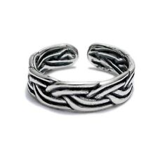 925 Sterling Silver Adjustable Braided Toe Ring