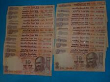 - INDIA PAPER MONEY- 26  'MG' NOTES - RS.10/- NIL YEAR TO 2013 - 4 SIGNS # EHv5