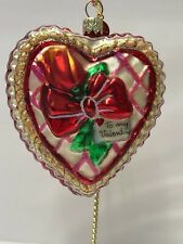 New ListingChristopher Radko Valentine's Day Ornament - Red Heart with Bow