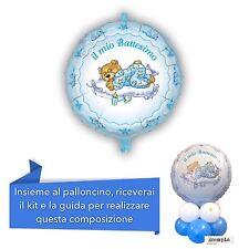 CENTROTAVOLA BATTESIMO BIMBO palloncino mylar Azzurro Addobbi Feste ed eventi