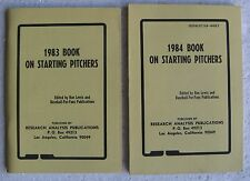 1983 & 1984 Book On Starting Pitchers (Baseball-For-Fans; Research Analysis)