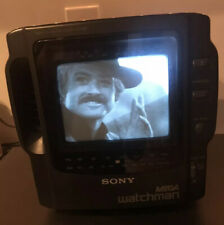 Vintage TV SONY MEGA watchman B/W Nice Clean Working Condition.    *COLLECTORS*