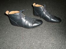 TOM WOLFE VERO CUOIO SIZE 42 BLACK LEATHER LACE UP SHOES