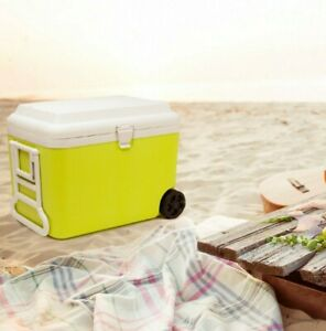 50L Insulated Picnic Cool Cooler Box With Handle And Wheels Grade B Used