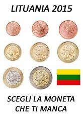 1 CENT - 2 EURO 2015 LITUANIA LITAUEN LITUANIE LITHUANIA FDC UNC