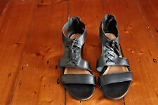 Somewhere Black Leather Sandals EUR38 US7 UK5
