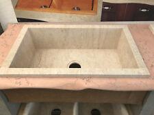 Lavello cucina a incasso 1 vasca in pietra naturale cm 74x44