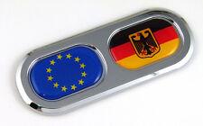 EU Germany European Union Country Flag Car Chrome Emblem Decal Sticker Badge DC