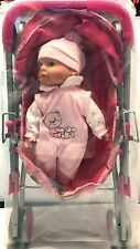 PINK STROLLER WITH PINK DOLL TOY