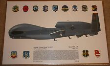 RQ-4 Global Hawk lithograph picture from squadron graphics 17in x 12in