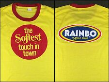 """Vintage Mens 70s 80s NOS/Deadstock Rainbo Bread """"Softest Touch in Town"""" T-Shirt"""