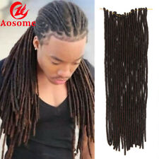 Hot! Soft Dreadlocks Twist Braids Crochet Synthetic Hair Extensions Faux Locs 4#