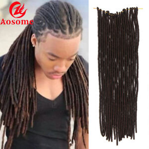 "20"" Soft Faux Locs Twist Braids Synthetic Crochet Hair Extensions Dreadlocks"