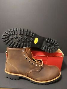RED WING MEN'S  2947 ROUGHMECK ROUND TOE LUG BROWN BOOTS SIZE: 10.5