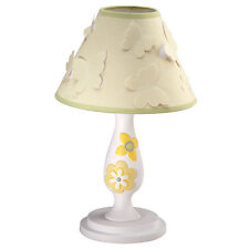 Yellow Blossoms Butterfly Nursery Lamp With Shade New In The Box
