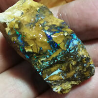 Amazing 95.10CT uncut Australia Queensland matrix Boulder Opal ROUGH