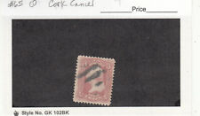 1861 Civil War Era Used 3ct Rose Geo Washington #65 Cork or Pen Cancel