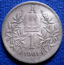 1901 Austro-Hungary Imperium-1 Gulden -SILVER-RARE