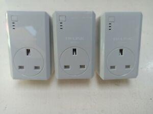 TP-Link TL-PA4020P AV600 600mbps 2 Port Powerline Ethernet Adapters x3