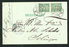 Nederland briefkaart uit 1901 van Den HELDER naar SOLINGEN (Duitsland)