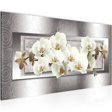 Wandbild XXL Modern Wohnzimmer - Blumen Orchidee Beige Braun Schlafzimmer Bilder