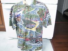 426bbb31 Reyn Spooner shirt vintage 1990s Hollywood California edsel cars cotton knit