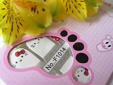 NAIL Art Autoadesivo COMPLETO TOE NAILS SMALTO Wrap Adesivo Kitty A Pois 1014t