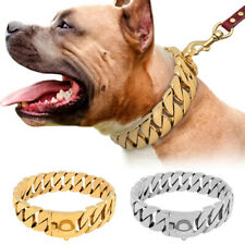 Heavy Duty Pet Dog Chain Collars Stainless Steel Choke Show Collar Medium Large