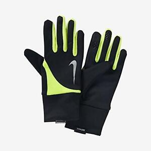 Men's Nike Element Thermal 2.0 Run Gloves - SMALL - Black Volt Running
