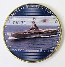 USS BON HOMME RICHARD  CV-31 VIETNAM CAMPAIGN RIBBON VINYL  SHIRT//SWEAT