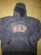 LIMITED EDITION GAP PREMIUM SWEATSHIRT HOODIE HEATHER GRAY WITH RED LOGO SIZE XL