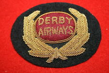 BRITISH DERBY AIRWAYS CIVIL AIRLINE PILOT CAP BADGE