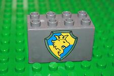 Lego Duplo Ritterburg (4777) 1 x Wappen großer Stein 8 Noppen Stein (hoch) K11