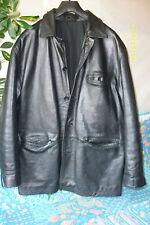 VESTON veste 3/4 CUIR T-L BLOUSON LEATHER jacket VINTAGE