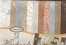 72 SHEETS 12 x 12 HANDMADE GLITTER PAPER ~ 100% COTTON / SILK FIBER