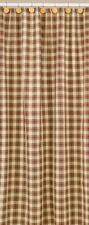 Country Cinnamon Shower Curtain Red, Green, Mustard, Cream 72x72 Cotton