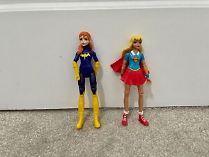 "Batgirl Supergirl 6"" Action Figures 2016 Mattel DC Comics Rare"