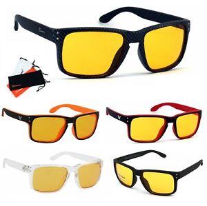 Rennec Nachtfahrbrille Nachtsicht Night Vision Auto Kontrastbrille Sonnenbrille