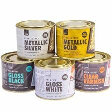 180ml GLOSS / METALLIC PAINT / VARNISH Metal Wood Concrete Floor Door Gate Stain