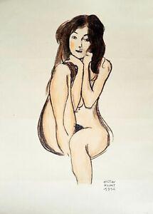 Gustav Klimt - Crayons drawing
