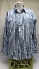 Mens U.S. Polo Assn Blue Striped Dress Shirt Size XL
