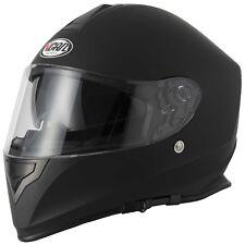 VCAN V127 Full Face Motorcycle Motorbike Scooter Road Crash Sports Racing Helmet Large Matt Black