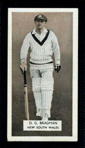 CARRERAS CRICKETERS 1934 DON BRADMAN - AUSTRALIA & NEW SOUTH WALES