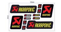 Aufkleber Sticker Set Akrapovic Motorrad Bike Racing Rennsport Tuning Motorsport